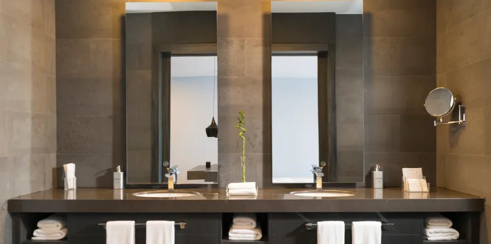 Badspiegel mit LED